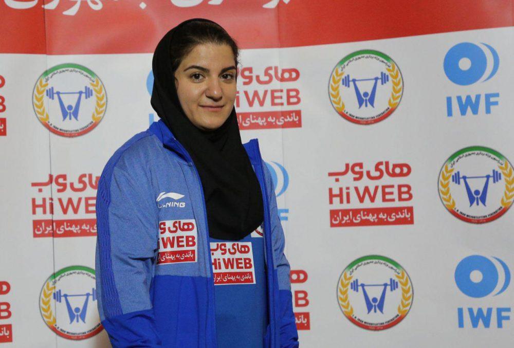 پوپک بسامی 1000x677 تصاویر حضور پوپک بسامی در مسابقات وزنه برداری قهرمانی جهان