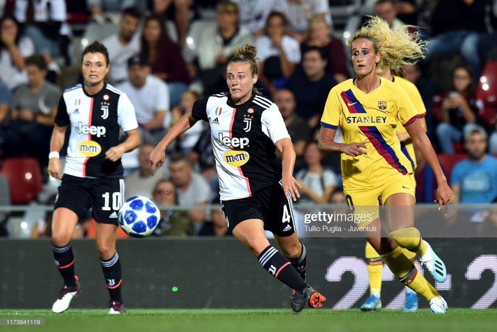 یوونتوس بارسلونا فوتبال زنان لیگ قهرمانان اروپا 10 1000x667 گزارش تصویری   دیدار تیمهای یوونتوس و بارسلونا در لیگ قهرمانان زنان