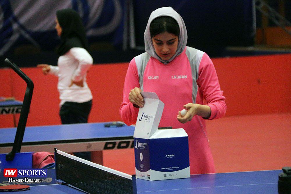 تمرین تیم ملی تنیس روی میز با شرکت غزاله مولاطلب 1000x667 گزارش تصویری   شور و انرژی در تمرین تیم ملی تنیس روی میز