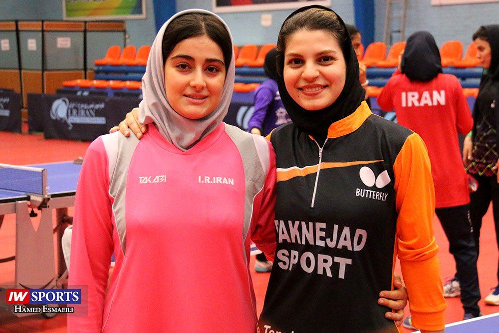 تمرین تیم ملی تنیس روی میز سارا شهسواری و غزاله مولاطلب 1000x667 گزارش تصویری | شور و انرژی در تمرین تیم ملی تنیس روی میز