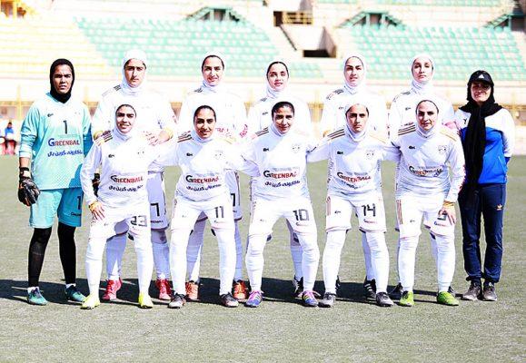 تیم فوتبال بانوان شهرداری بم 579x400 گزارش تصویری | دیدار تیم های شهرداری بم و آویسا خوزستان در لیگ برتر فوتبال بانوان