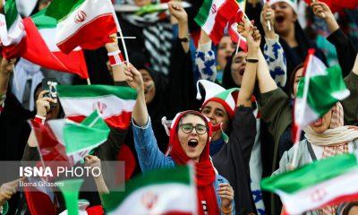 حضور زنان در ورزشگاه آزادی در دیدار ایران و کامبوج 21 400x240 گزارش تصویری | حضور زنان در ورزشگاه آزادی در دیدار ایران و کامبوج