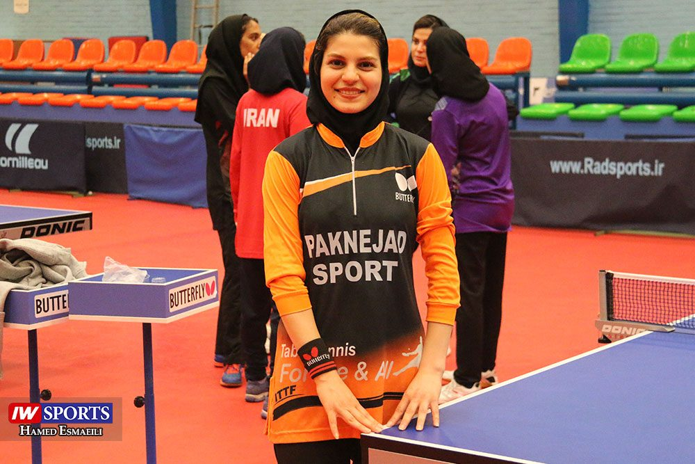 سارا شهسواری در حاشیه تمرین تیم ملی تنیس روی میز 1000x667 گزارش تصویری   شور و انرژی در تمرین تیم ملی تنیس روی میز