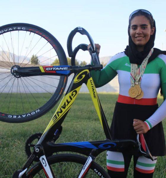 ستاره زرگر تیم ملی دوچرخه سواری 560x600 ستاره زرگر : پیست چوبی چالش ایران در دوچرخه سواری پیست آسیا است