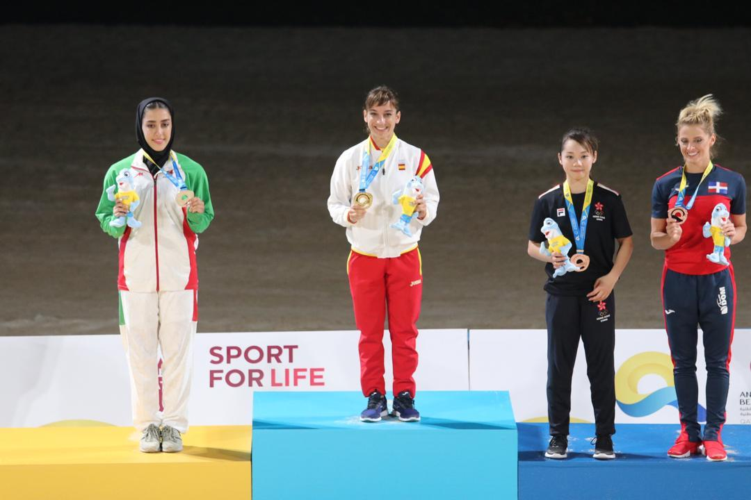 ویدئو | نظرات فاطمه صادقی پس از کسب مدال نقره کاتای بازیهای جهانی ساحلی