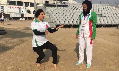فاطمه صادقی و فاطمه بغلانی پور در المپیک ساحلی قطر 400x240 المپیک ساحلی قطر 2019 | فاطمه صادقی به مرحله دوم صعود کرد