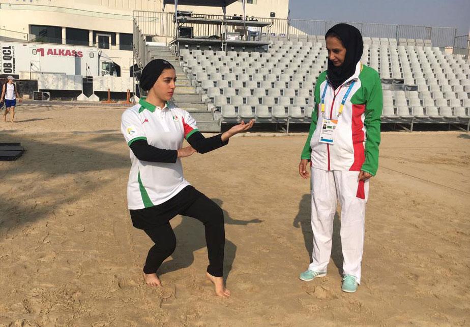فاطمه صادقی و فاطمه بغلانی پور در المپیک ساحلی قطر المپیک ساحلی قطر 2019   فاطمه صادقی به مرحله دوم صعود کرد