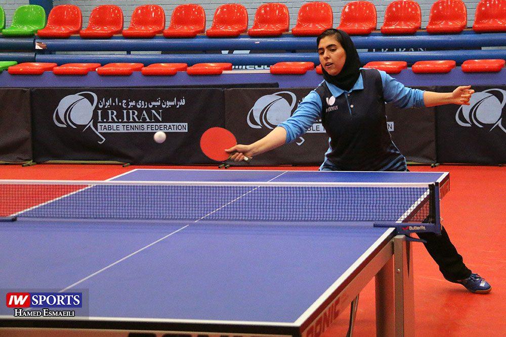 مریم فرعی در جریان تمرین تیم ملی تنیس روی میز 1000x667 گزارش تصویری   شور و انرژی در تمرین تیم ملی تنیس روی میز