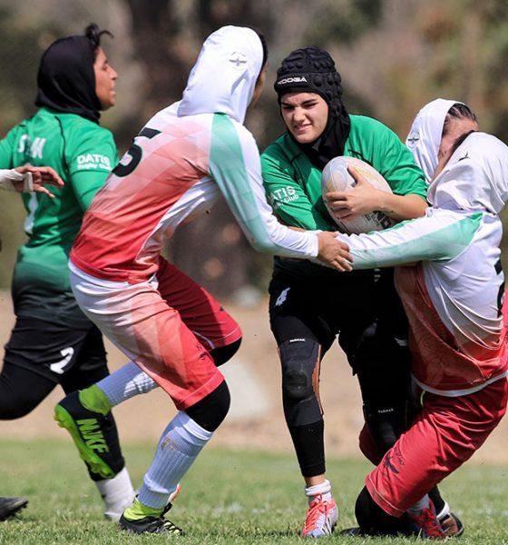 مسابقات راگبی بانوان قهرمانی کشور 11 560x600 گزارش تصویری | مسابقات راگبی بانوان کشور در تهران