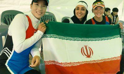 نازنین ملایی و کسب مدال طلای رویینگ آسیا 400x240 مسابقات رویینگ قهرمانی آسیا | نازنین ملایی طلایی شد؛ کسب ۲ برنز در قایق دو نفره