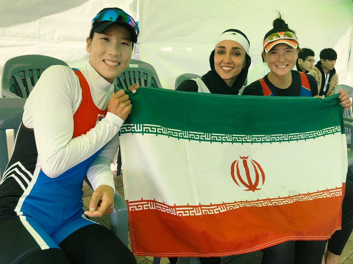 مسابقات رویینگ قهرمانی آسیا | نازنین ملایی طلایی شد؛ کسب ۲ برنز در قایق دو نفره