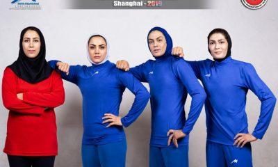 ووشوی ایران در مسابقات قهرمانی جهان مریم هاشمی الهه منصوریان شهربانو منصوریان 400x240 ووشوی قهرمانی جهان در چین   3 طلا، 2 نقره و یک برنز به دختران ایران تعلق گرفت