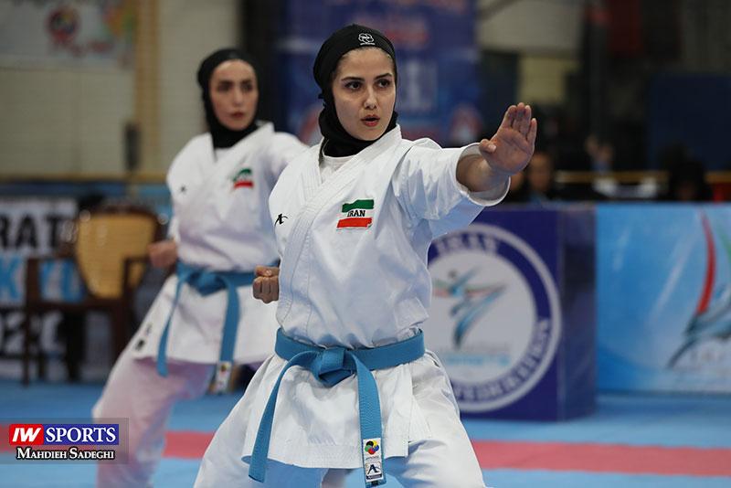 گزارش تصویری | الناز تقی پور، نجمه قاضی زاده و شادی جعفری زاده در سوپر لیگ کاراته