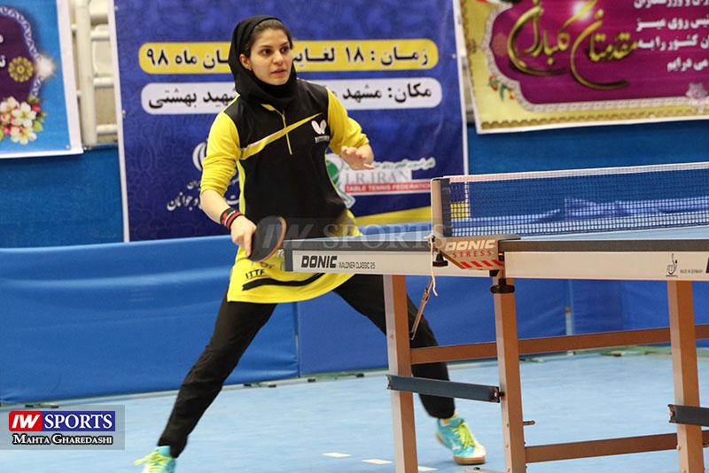 سارا شهسواری تور تنیس روی میز بزرگسالان کشور در مشهد آبان ۹۸ 3 گزارش تصویری | همراه با سارا شهسواری در مرحله دوم تور تنیس روی میز در مشهد