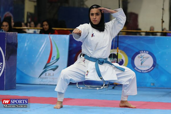 فاطمه صادقی در سوپر لیگ کاراته بانوان 1 599x400 گزارش تصویری | نمایش فاطمه صادقی در هفته نخست سوپر لیگ کاراته
