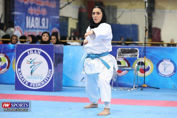 فاطمه صادقی در سوپر لیگ کاراته بانوان 10 599x400 گزارش تصویری | نمایش فاطمه صادقی در هفته نخست سوپر لیگ کاراته