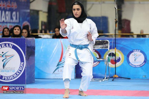 فاطمه صادقی در سوپر لیگ کاراته بانوان 11 599x400 گزارش تصویری | نمایش فاطمه صادقی در هفته نخست سوپر لیگ کاراته
