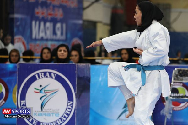 فاطمه صادقی در سوپر لیگ کاراته بانوان 12 599x400 گزارش تصویری | نمایش فاطمه صادقی در هفته نخست سوپر لیگ کاراته
