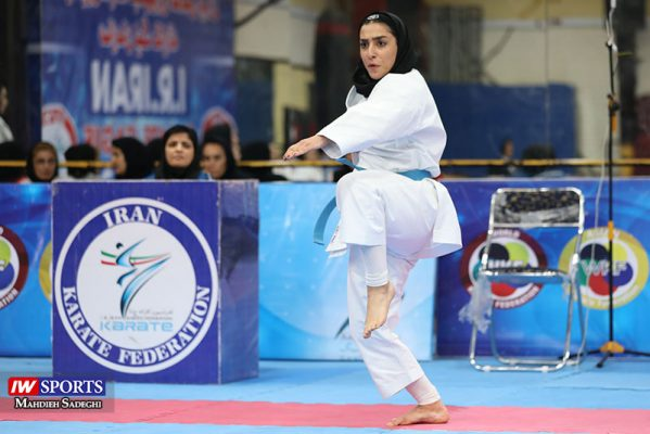 فاطمه صادقی در سوپر لیگ کاراته بانوان 13 599x400 گزارش تصویری | نمایش فاطمه صادقی در هفته نخست سوپر لیگ کاراته