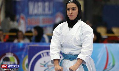 فاطمه صادقی در سوپر لیگ کاراته بانوان 2 400x240 کاراته وان پاریس | نمایش جذاب فاطمه صادقی و رتبه نهم کاتا؛ نگین باقری پانزدهم شد