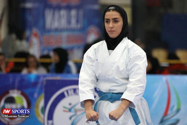 فاطمه صادقی در سوپر لیگ کاراته بانوان 2 599x400 گزارش تصویری | نمایش فاطمه صادقی در هفته نخست سوپر لیگ کاراته