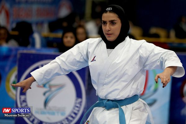 فاطمه صادقی در سوپر لیگ کاراته بانوان 3 599x400 گزارش تصویری | نمایش فاطمه صادقی در هفته نخست سوپر لیگ کاراته