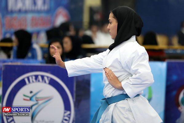فاطمه صادقی در سوپر لیگ کاراته بانوان 6 599x400 گزارش تصویری | نمایش فاطمه صادقی در هفته نخست سوپر لیگ کاراته