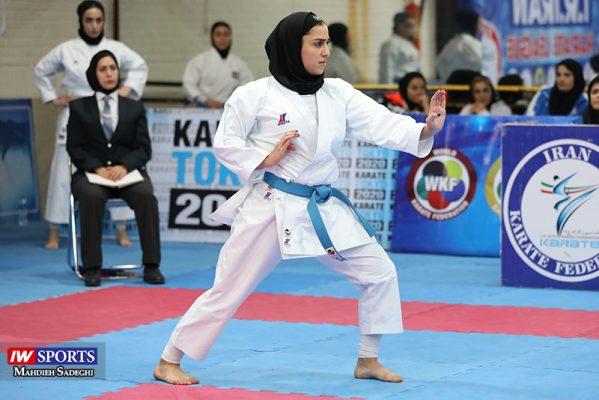 فاطمه صادقی در سوپر لیگ کاراته بانوان 7 599x400 گزارش تصویری | نمایش فاطمه صادقی در هفته نخست سوپر لیگ کاراته
