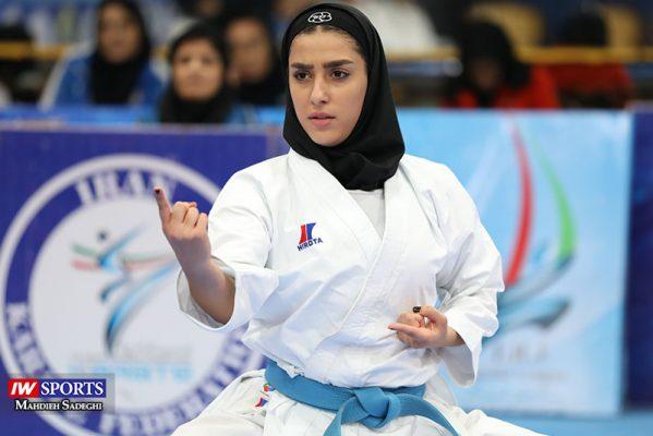 فاطمه صادقی در سوپر لیگ کاراته بانوان 8 599x400 گزارش تصویری | نمایش فاطمه صادقی در هفته نخست سوپر لیگ کاراته