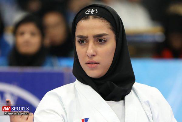 فاطمه صادقی در سوپر لیگ کاراته بانوان 9 599x400 گزارش تصویری | نمایش فاطمه صادقی در هفته نخست سوپر لیگ کاراته