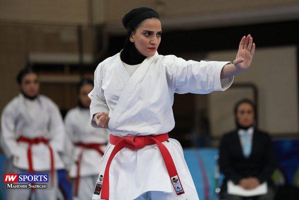 مهسا افسانه در سوپر لیگ کاراته بانوان 2 599x400 گزارش تصویری   همراه با مهسا افسانه در آغاز سوپر لیگ کاراته