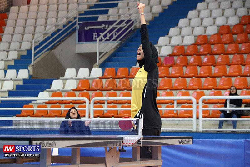 گزارش تصویری | مهشید اشتری در مرحله دوم تور تنیس روی میز در مشهد