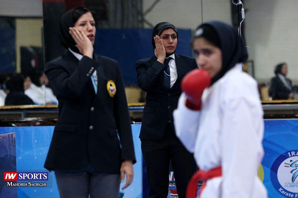 هفته اول لیگ برتر کاراته 1 1000x667 گزارش تصویری   هفته اول لیگ برتر کاراته بانوان در سالن شهید کبگانیان