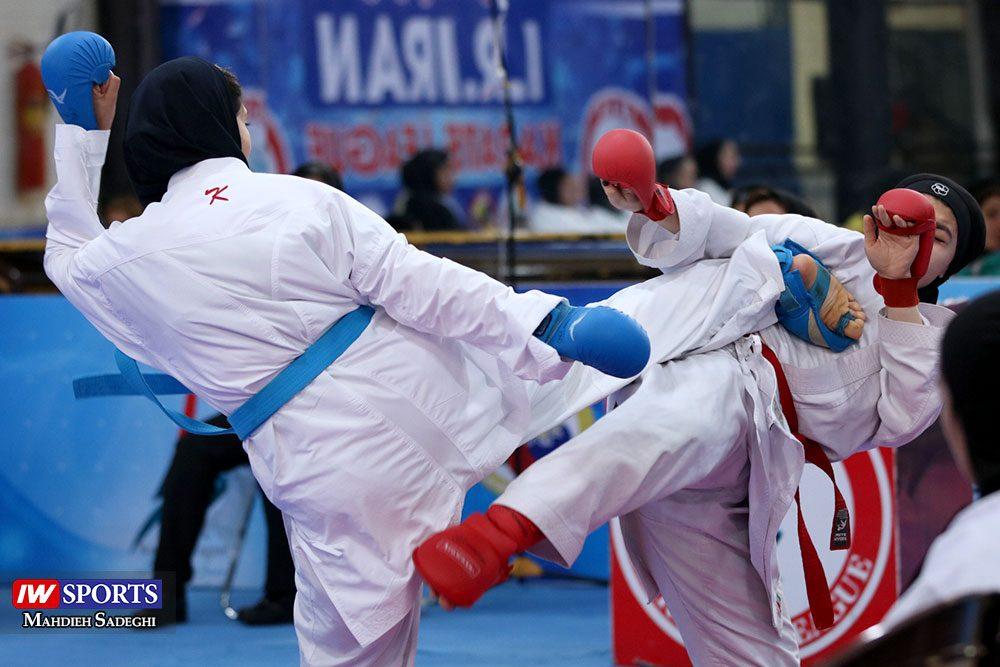 هفته اول لیگ برتر کاراته 11 1000x667 گزارش تصویری   هفته اول لیگ برتر کاراته بانوان در سالن شهید کبگانیان