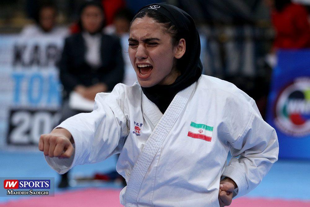 هفته اول لیگ برتر کاراته 25 1000x667 گزارش تصویری   هفته اول لیگ برتر کاراته بانوان در سالن شهید کبگانیان
