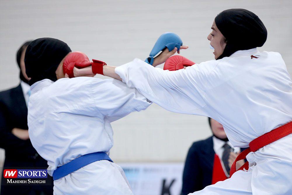 هفته اول لیگ برتر کاراته 26 1000x667 گزارش تصویری   هفته اول لیگ برتر کاراته بانوان در سالن شهید کبگانیان