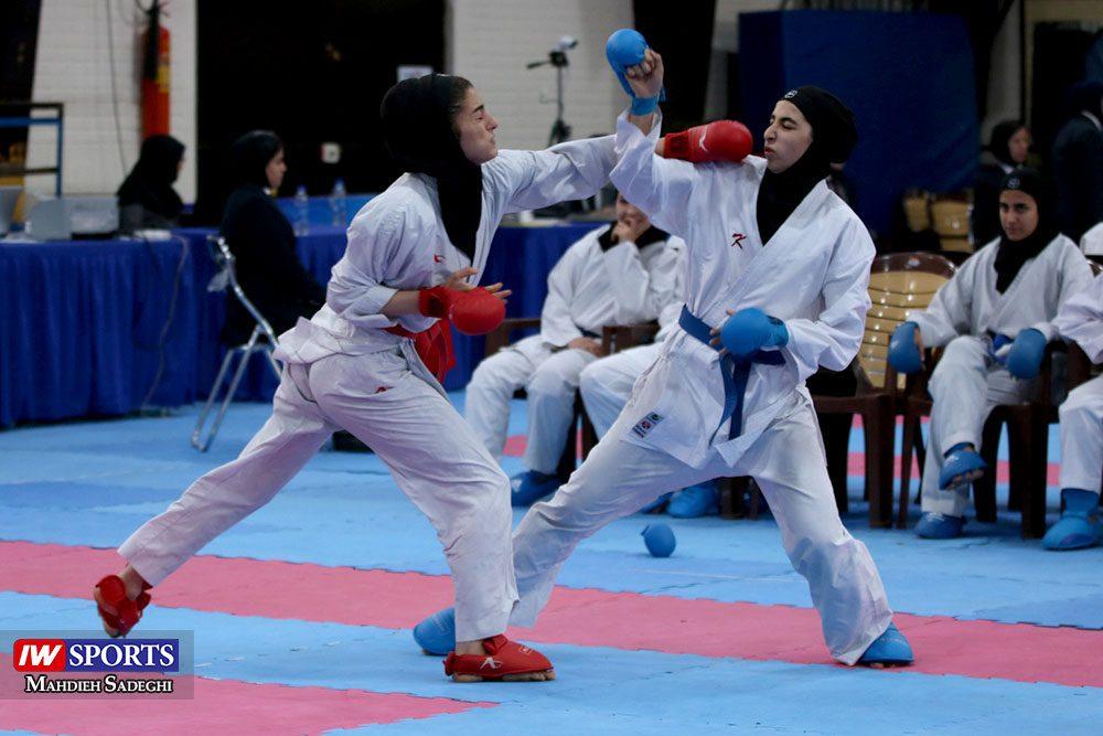 هفته اول لیگ برتر کاراته 27 1000x667 گزارش تصویری   هفته اول لیگ برتر کاراته بانوان در سالن شهید کبگانیان