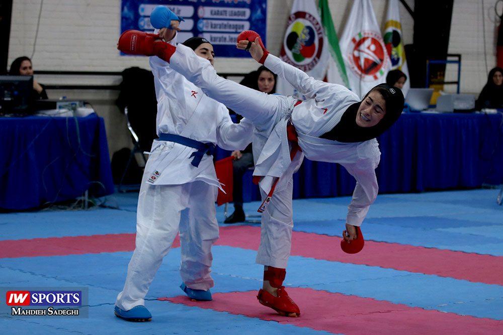 هفته اول لیگ برتر کاراته 28 1000x667 گزارش تصویری   هفته اول لیگ برتر کاراته بانوان در سالن شهید کبگانیان