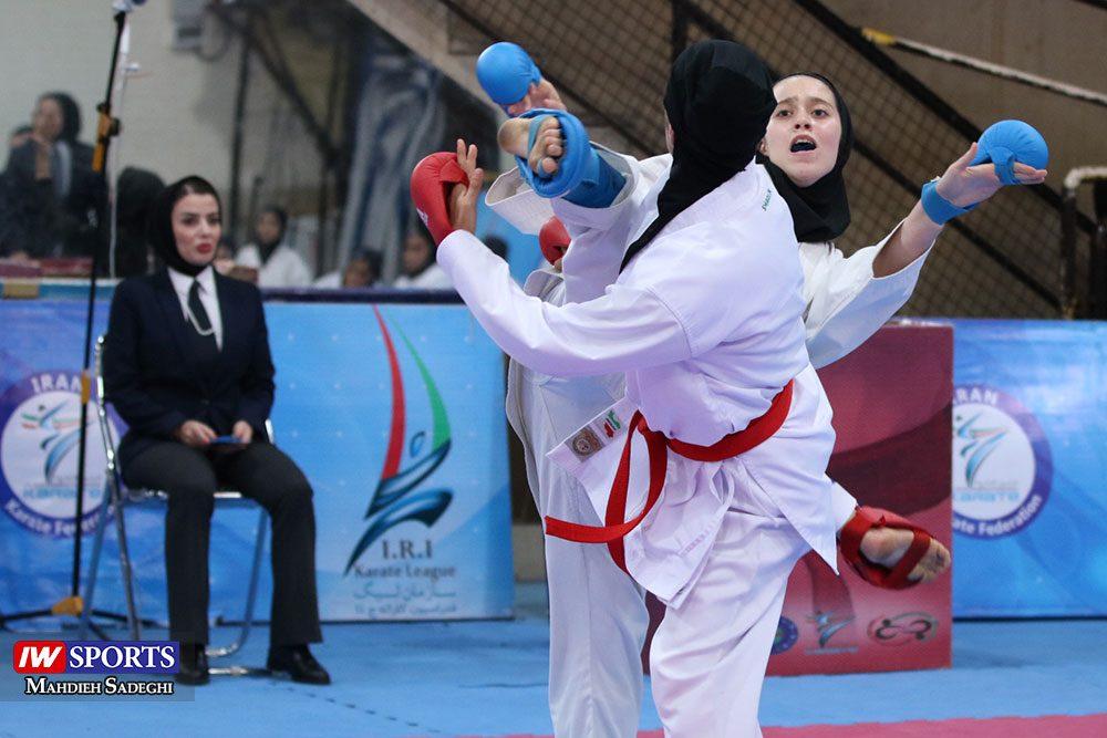 هفته اول لیگ برتر کاراته 3 1000x667 گزارش تصویری   هفته اول لیگ برتر کاراته بانوان در سالن شهید کبگانیان