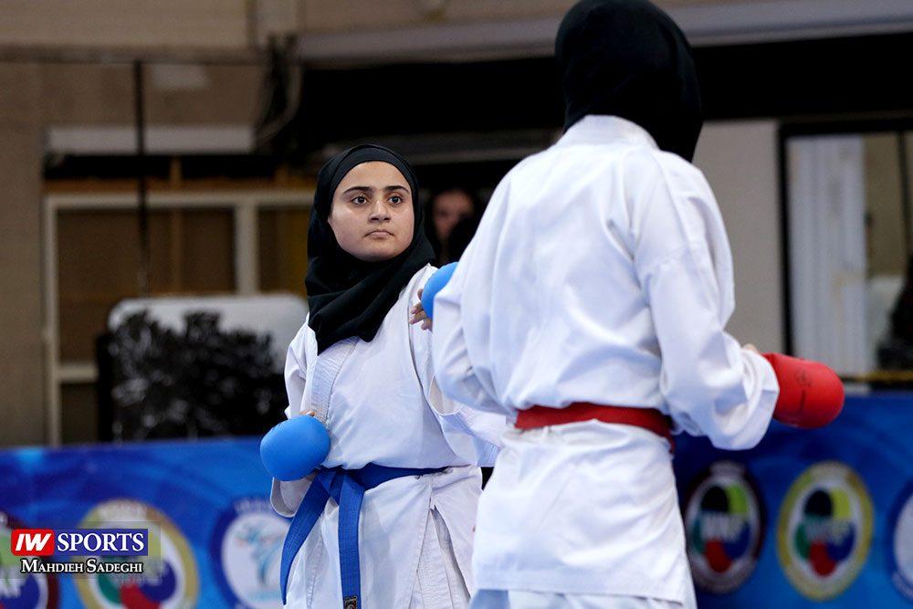 هفته اول لیگ برتر کاراته 7 1000x667 گزارش تصویری   هفته اول لیگ برتر کاراته بانوان در سالن شهید کبگانیان