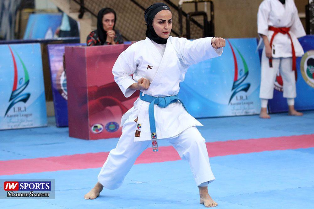 هفته اول لیگ برتر کاراته 9 1000x667 گزارش تصویری   هفته اول لیگ برتر کاراته بانوان در سالن شهید کبگانیان