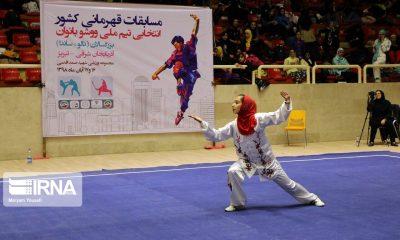 ووشو قهرمانی کشور در تبریز 2 400x240 اصفهان قهرمان ووشوی بانوان کشور شد   برگزاری مسابقات در ساعت 2 بامداد!