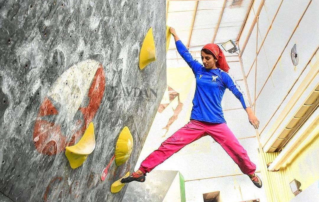 دختر عنکبوتی ؛ سریع اما نه خشن | الناز رکابی دختر سنگ نورد ایران