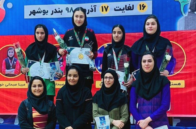 تور تنیس روی میز نوجوانان در بوشهر | سومین قهرمانی متوالی الینا رحیمی