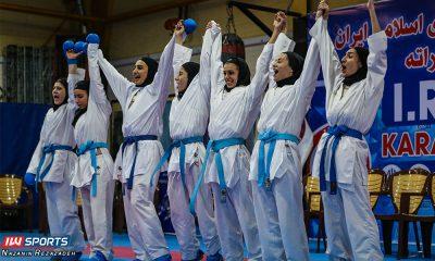 تیم کاراته دانشگاه آزاد 400x240 گزارش تصویری | مبارزات کومیته هفته سوم سوپرلیگ کاراته بانوان
