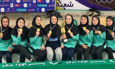 ذوب روی صبای زنجان 400x240 ذوب روی صبای زنجان قهرمان لیگ برتر بدمینتون بانوان شد