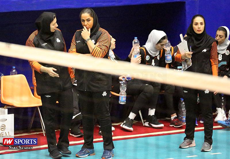لیگ برتر والیبال بانوان - سایپا و هلدینگ اطلس تهران - مریم هاشمی و شهرزاد ریاضی