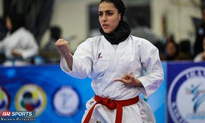 مسابقات کاتا سوپر لیگ کاراته بانوان فاطمه صادقی 400x240 دختران کاراته کا عازم شیلی میشوند |  فاطمه صادقی در انتظار روادید