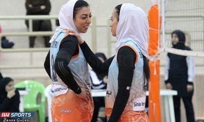 مهسا صابری و شبنم علیخانی در دیدار افق قم و سایپا در لیگ برتر والیبال 400x240 تیم منتخب هفته ششم لیگ برتر والیبال بانوان معرفی شد