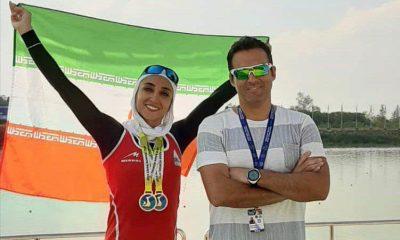 نازنین ملایی در مسابقات کاپ آسیا در تایلند 400x240 نازنین ملایی دومین مدال طلا در رویینگ کاپ آسیا را صید کرد